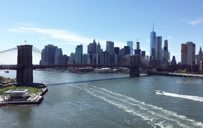 View at Brooklyn Bridge from the Manhattan Bridge