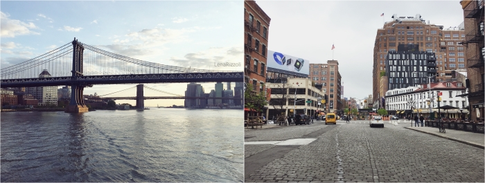Manhattan Bridge and Brooklyn Bridge in the Background and the Meatpacking District