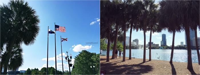 Lake Eola Park at Lake Eola - Orlando Downtown