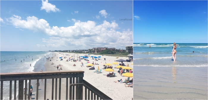 Cocoa Beach view from the Pier and from the Beach