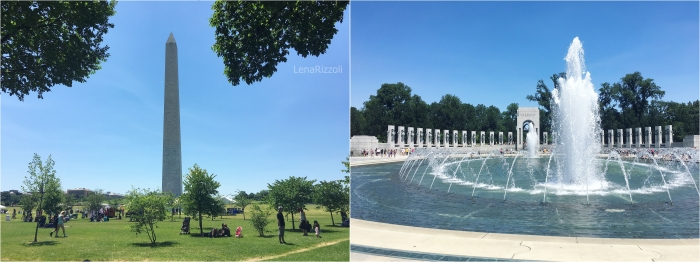 Washington Monument and World War II Memorial