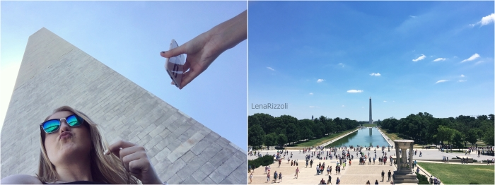 Washington Monument and View at The Mall from the Lincoln Memorial